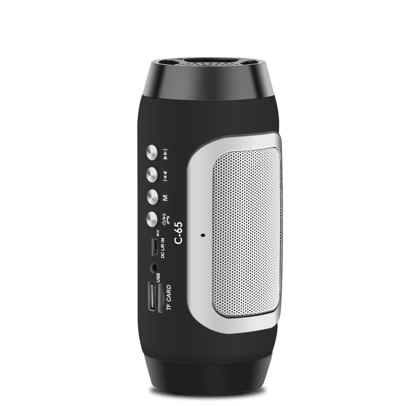 C-65 Wireless HIFI Music Speaker Portable Bluetooth Speakers Handfree Subwoofer Loundspeaker with Mic for Phone