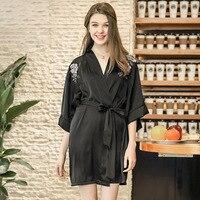 Bridesmaid Robes Satin Silk Dress Robe Femme Bathrobe Kimono Bride Robe
