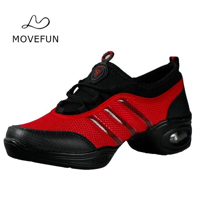 Movefun Kebugaran Tari Modern Jazz Sepatu Wanita Platform Perempuan Napas  Fitur Lembut Outsole Sepatu Tari Sneakers cd3eaf73ec