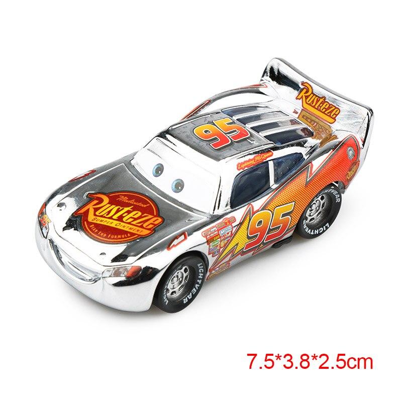 Дисней Pixar Тачки 2 3 Молния Маккуин матер Джексон шторм Рамирез 1:55 литье под давлением автомобиль металлический сплав мальчик малыш игрушки Рождественский подарок - Цвет: McQueen sliver