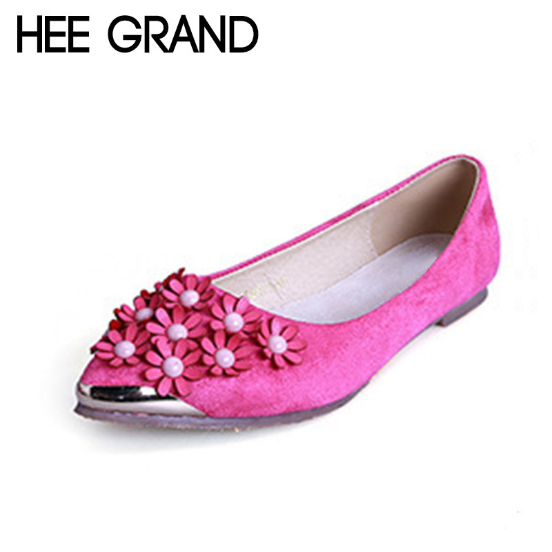 HEE GRAND 2018 New Summer Women Fashion Flats with Flowers Professional Causal Shoes Female Pregnant Women Flats XWD6354