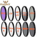 Knightx 49mm 52mm 55 58mm 67mm 77mm nd estrella mc filtro de color uv fld lente para nikon canon t3i d3100 d3200 d5200 d7100 d5300 d3300