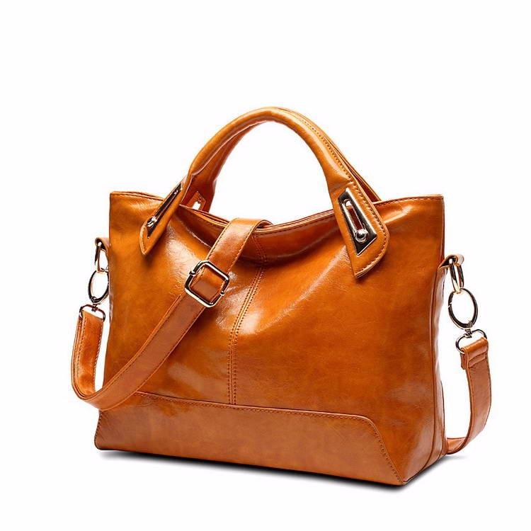 Women Oil Wax Leather Designer Handbags High Quality Shoulder Bags Ladies Handbags Fashion brand PU leather women bags WLHB1398 9
