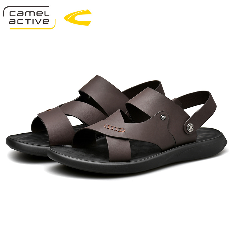 Camel Active 2019 New Genuine Leather Quick Dryin Sandals Summer Quality Casual Sneakers Anti Slippery Outdoor Beach Shoes 19287