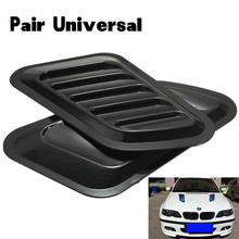 Universal 1Pair Vent Cover Car Decorative Air Flow Intake Scoop Turbo Bonnet  Hood Fender Car Styling Free Shipping