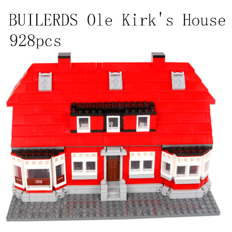 Model 17006 Compatible with Lego 40007 classic Serier the Ole Kirk's House Model Building Blocks Architecture toys for children wange mechanical application of the crown gear model building blocks for children the pulley scientific learning education toys