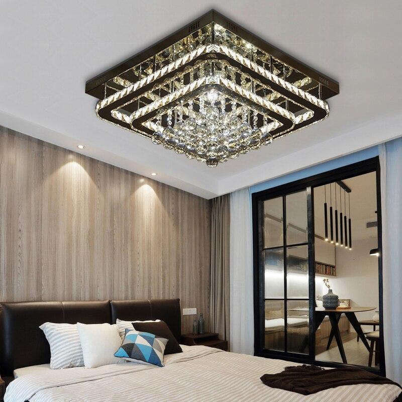 Deckenleuchten Schlafzimmer Kristall Led-deckenleuchte Moderne Einfache FÜhrte Goldene Licht Platz Warme Romantische Atmosphäre Zimmer Deckenleuchten Za1128654 Neueste Technik