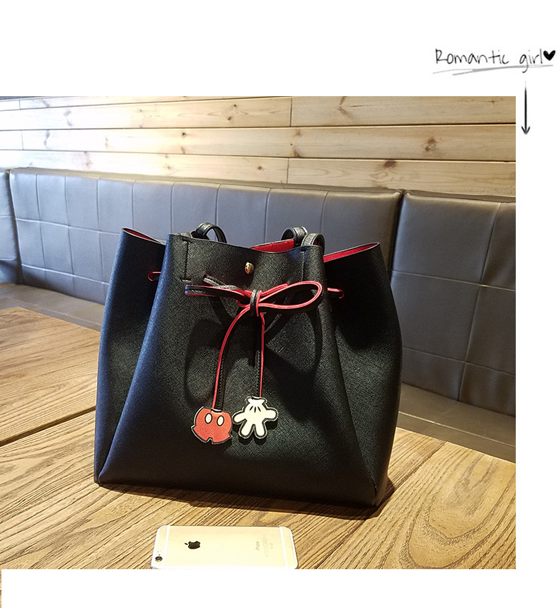 Women Messenger Bags Mickey Bag Leather Handbags Clutch Bag Bolsa Feminina Mochila Bolsas Female Evening Bag women messenger bags cow split leather bag female handbag fashion crocodile evening bags red shoulder bag handbags bolsa tasche