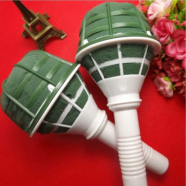 Free shipping wholesals Fresh flower Bouquet Holder Handle Bridal ...