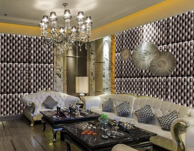 Glitter forma di goccia europeo wallpaper rullo per pareti 3d