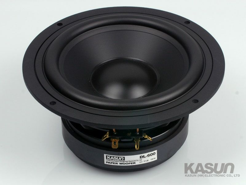 1 pcs KASUN MID/BASS Speaker DL-600 6.5-inch bass speaker 180W 6 ohm for amplifier power