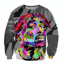 new mens hoodie harajuku 3D sweatshirts 2Pac Tupac American gangster rap star print sweats pullovers tops shirts S-5XL