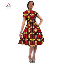WholeSale Africa Dress For Women Wax Print Dresses Dashiki Plus Size Africa Style Clothing for Women Office Dress WY082