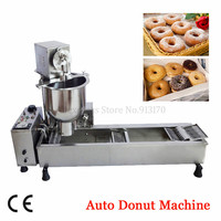 Stainless Steel Automatic Donuts Machine Small Commercial Auto Doughnut Production Equipment 220V/110V 3000W 3 Molds