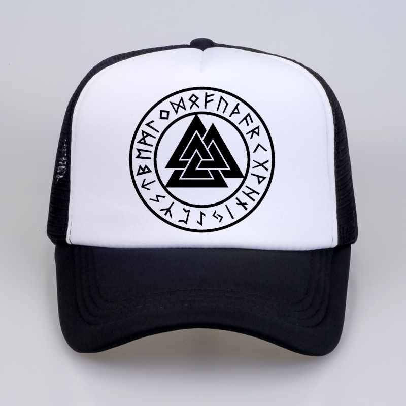 pagan amulet Men   cap   Scandinavian Viking jewelry Odin 's Symbol of Norse Viking Warrior Slavic Norway Valknut   Baseball     Caps