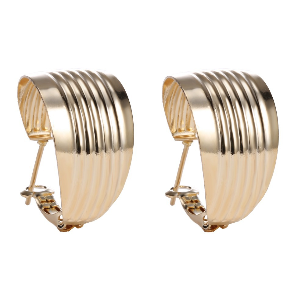 Fashion Basketball Wives Round Hoop Earring For Women Wedding Vintage Hoop Earrings gold color Women Earring Big Hoop Earrings