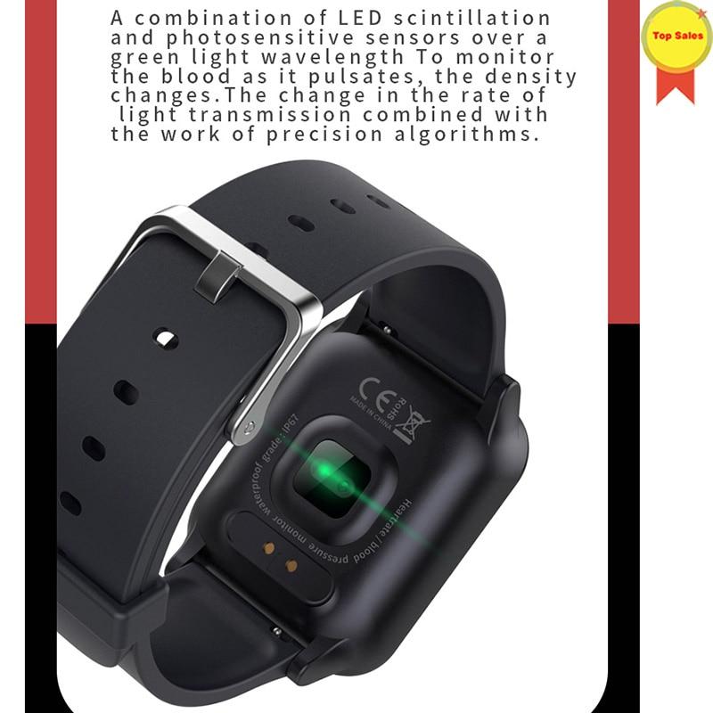 Montre-bracelet intelligente montres intelligentes moniteur de fréquence cardiaque numérique message push hommes Sport bande intelligente Bluetooth bande 4 IOS andorid - 3