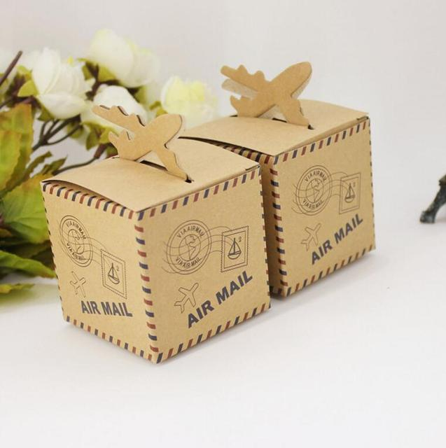 Alice 6 6cm Brown Gift Box Design Air Mail Printing Packaging