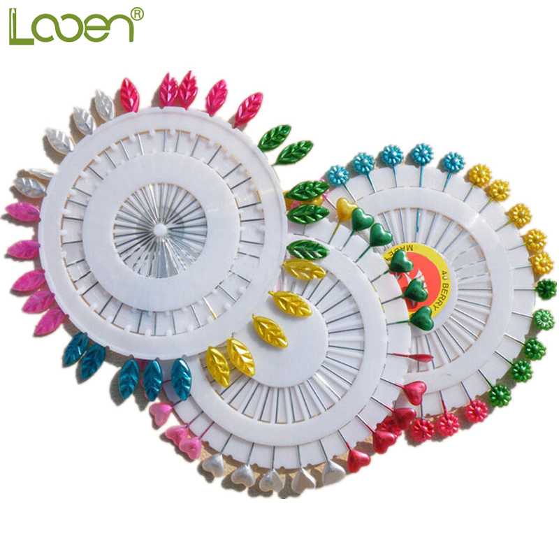 Needlework Faux Pearl Head Sewing Corsage Pins mSure Corsage Pins Multi-Colour 480 PCS