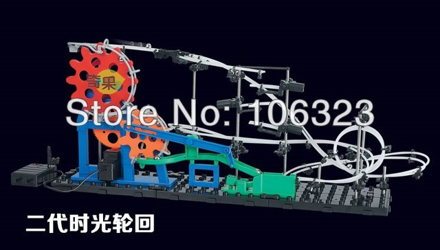 Second Generation Space Rail Toys, Roller coaster Level 2 Time Cycle, Space Wrap the most difficult self-install DIY Puzzle Toys