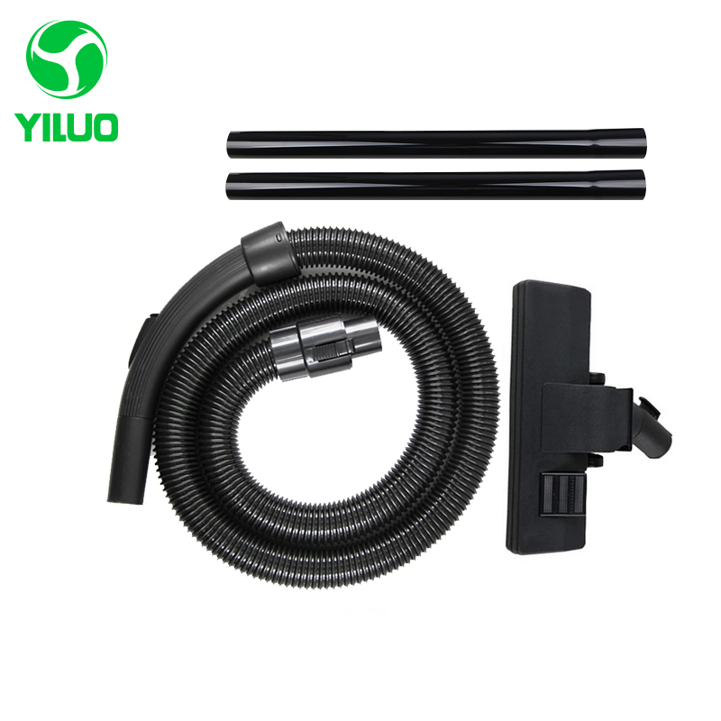 Diameter 32mm Spare Parts Black Hose + Floor Brush + Straight Pipe for Vacuum Cleaner for QW12T-05F QZ865 QW12T-608 etc резинка дк круглая d 2 5 20м