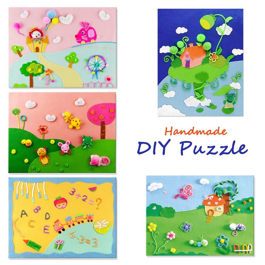 Cartoon EVA 3D Puzzle Sticker DIY Handmade Material Toys for Kids Funny Games