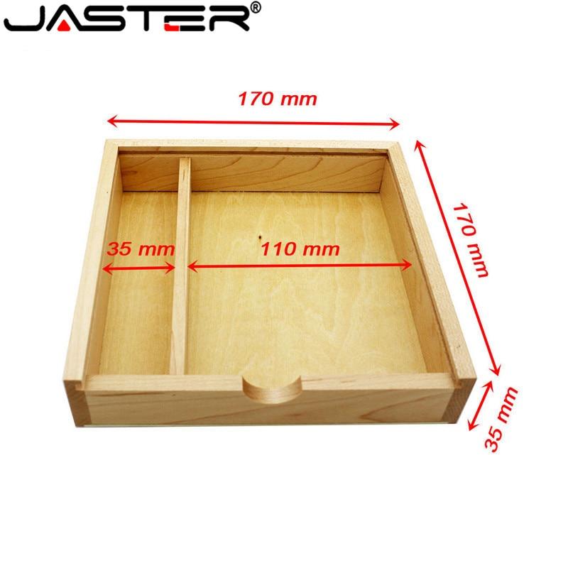 JASTER Wooden Photo Album Large Oval Usb+Box Usb Flash Drive U Disk Pendrive 8GB 16GB 32GB Wedding Studio 170mm*170mm*35mm
