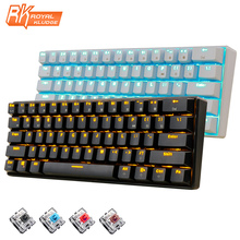 New 61 Keys RK61 Bluetooth Wireless White LED Backlit Ergonomic Mechanical Gaming Keyboard Gamer illuminated For Laptop Computer
