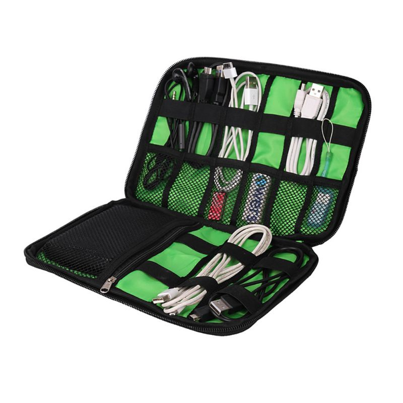 Outdoor Camping Data Earphone Cable Organizer Bag USB Flash Drives Case Digital Storage Pouch Sports Hiking Climbing Travel Kits
