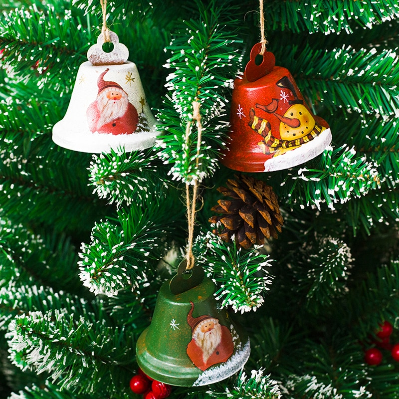Christmas Bells Iron Bells Hanging Christmas Decoration