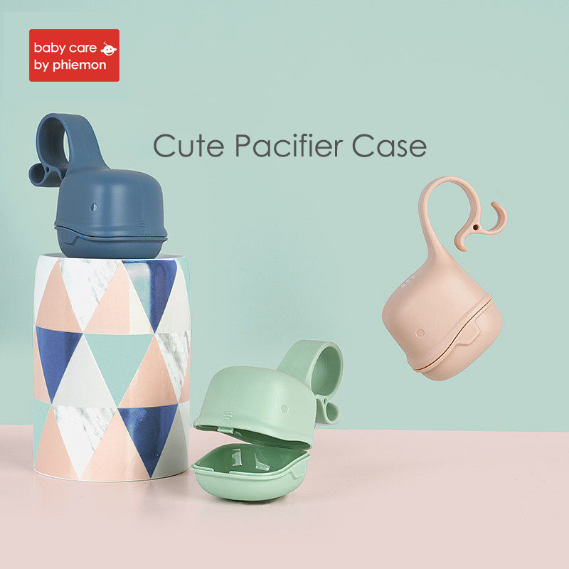 Baby Portable Pacifier Nipple Cradle Case Holder Infant Travel Storage Cases Newborn Soother Snack Safe Box Carrying Container