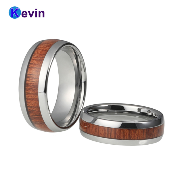 Wood Wedding Rings.Us 11 04 15 Off Genuine Mahogany Wood Inlay Tungsten Ring Wooding Ring Wooden Wedding Rings In Wedding Bands From Jewelry Accessories On