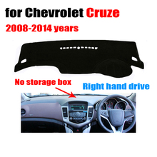 Car dashboard cover mat for Chevrolet Cruze 2008-2014 Right hand drive dashmat pad dash covers auto dashboard accessories