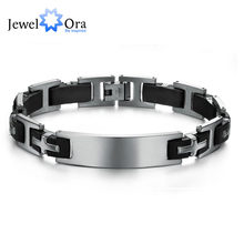 2016 Fashion Cross Stainless Steel Men Bracelets & Bangles Punk 220mm Length Black Men Bracelets New Dad Gift(JewelOra BA101366)(China)