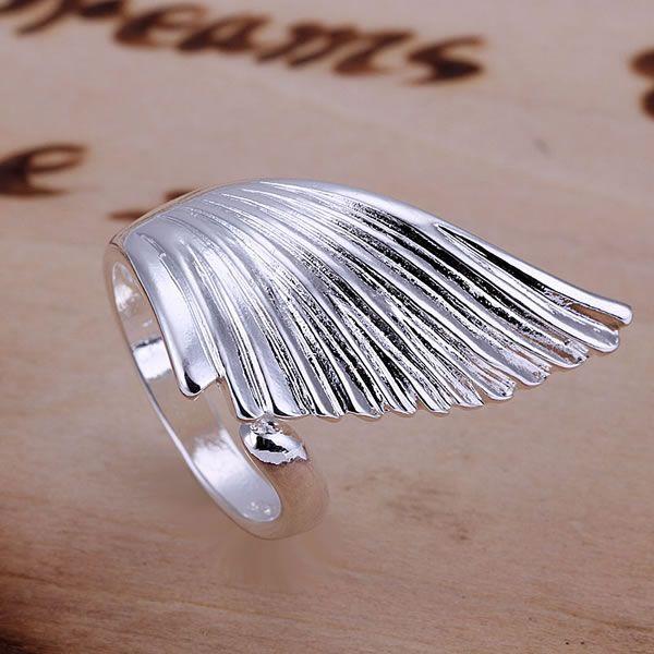Pojedinačni anđeoski krili protežu se prsten za žene sjajni nakit - Modni nakit - Foto 2