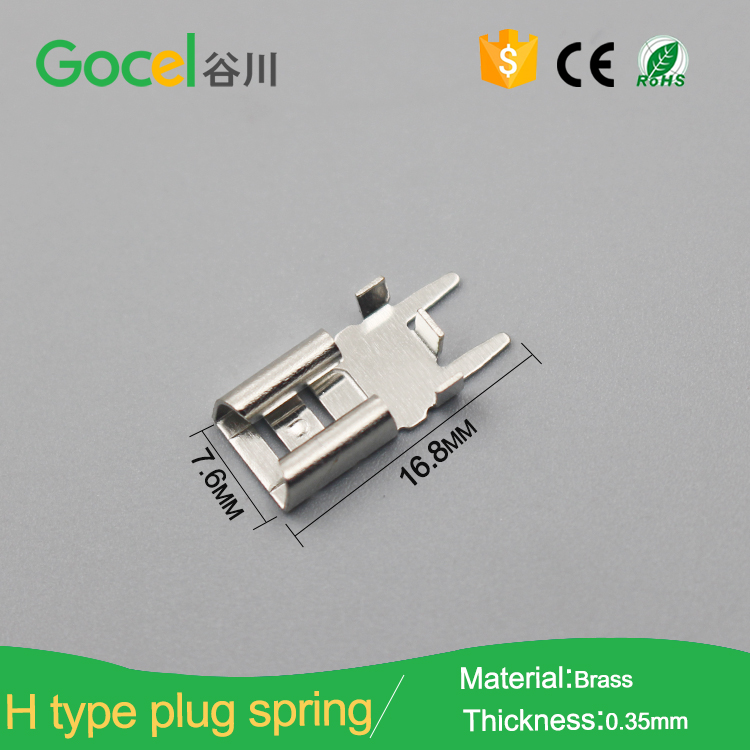 20pcs Brass Clips Wire Ends Terminal Soldering Male Connector Electronic Circuit
