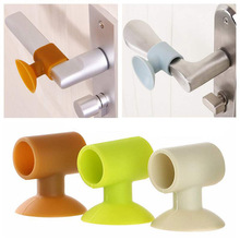 Wall-Protector Door-Knob Baby Safety Silicone 2 2pcs Silencer Crash-Pad Anti-Collision-Stop-Product