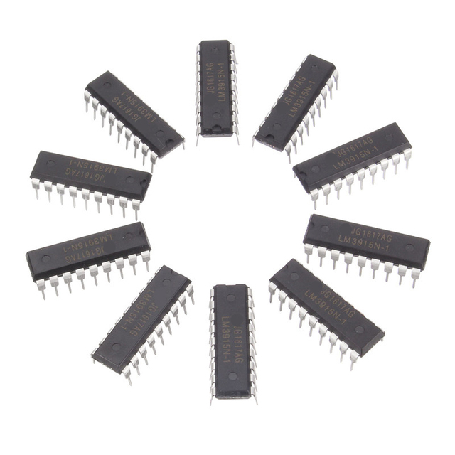 10PCS LM3915N-1 DIP18 LM3915-1 DIP LM3915N LM3915 new Electronic Components Supplies Active Components