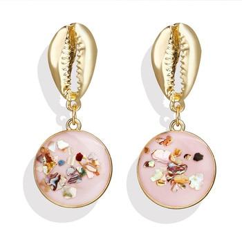 Geometric Shell Earrings For Women Earrings Jewelry Women Jewelry Metal Color: CS1907050912