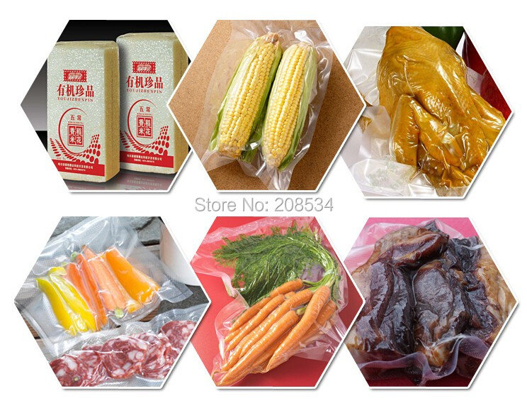 Купить с кэшбэком Low Price food vacuum sealer, vacuum packing machine vacuum chamber, aluminum bags food rice tea vacuum sealing machine