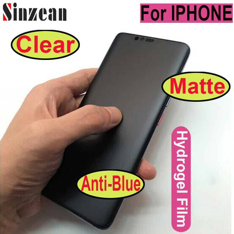 200pcs For IPHONE 12 Pro/XS MAX/XR Clear/Matte/Anti blue hydrogel film For IPHONE 11 Pro Max/678 Plus Soft PET screen protector Phone Screen Protectors    - AliExpress