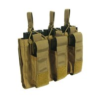 Tactical Triple Magazine Pouch Hold 6 Mags Mag Pouch Bag Holster Black CB Multicam