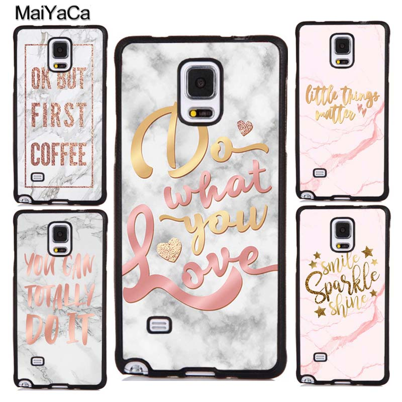 MARBLE ROSE <font><b>GOLD</b></font> INSPIRATIONAL QUOTES <font><b>Case</b></font> For <font><b>Samsung</b></font> Galaxy A50 A51 A71 A70 A10 A30S A40 S8 S9 S10 S10e Note 10 Plus S20 Ultra image