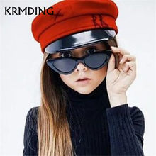 new fashion kids sunglasses boys and girls children cute triangle cat eyes sunglasses UV400 glasses shade baby Oculos de sol(China)