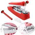1Pc Mini Portable Hand-Held Sewing Machine Practical Clothes Fabric Pocket Travel Sewing Machine Convenience Household Product