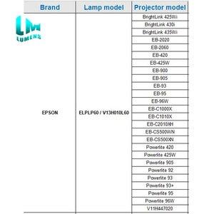 Image 5 - Voor Elplp60/ V13H01060 Hoge Kwaliteit Nieuwe Lamp Voor Epson EB 900 EB 905 Powerlite 420 425W 905 92 93 + 93 95 96W