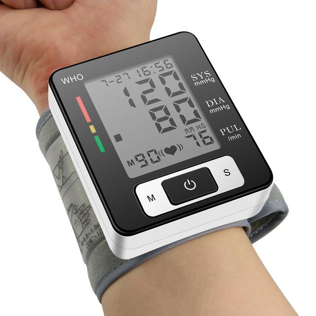 BMC Wrist Digital Blood Pressure Monitor Automatic Sphygmomanometer Smart Medical Machine Measure Pulse Rate Fitness Measurement