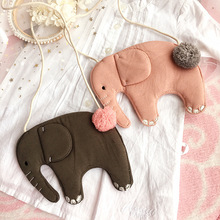 Korea Cute Lovely Fabric Elephant Necklace Pendent Bag Chain Collar Fashion Jewelry Children Girl Accessories-SWCGNLB010F