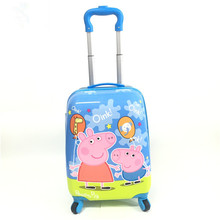 Baby pull rod field small princess suitcase 18inch to wheel suitcase piggy field wholesale