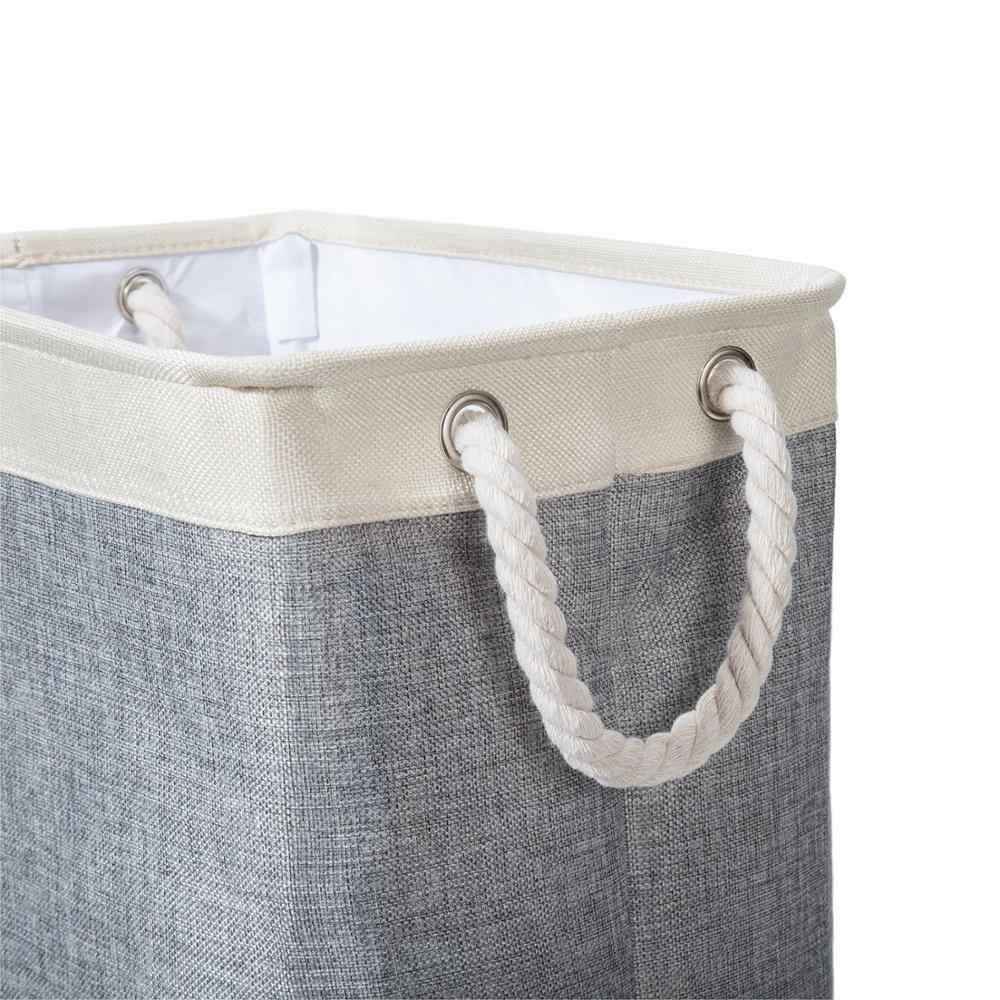 Cesto de roupa suja Cesta com Alças de Transporte & Destacável Hastes, Ideal para Roupas, Lençóis, Organização De Armazenamento De Brinquedos, mais próximo